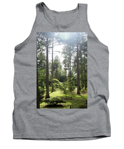 Tank Top featuring the photograph Sunlight Through The Trees by Scott Lyons
