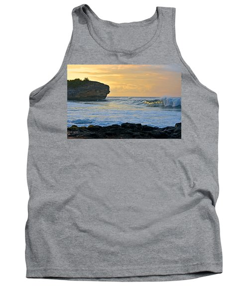 Sunlit Waves - Kauai Dawn Tank Top by Marie Hicks