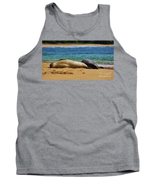 Sunning On The Beach In Hawaii Tank Top
