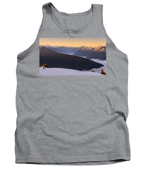Tank Top featuring the photograph Sunrise Above The Clouds by Dan Mihai