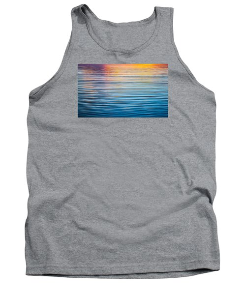 Sunrise Abstract On Calm Waters Tank Top