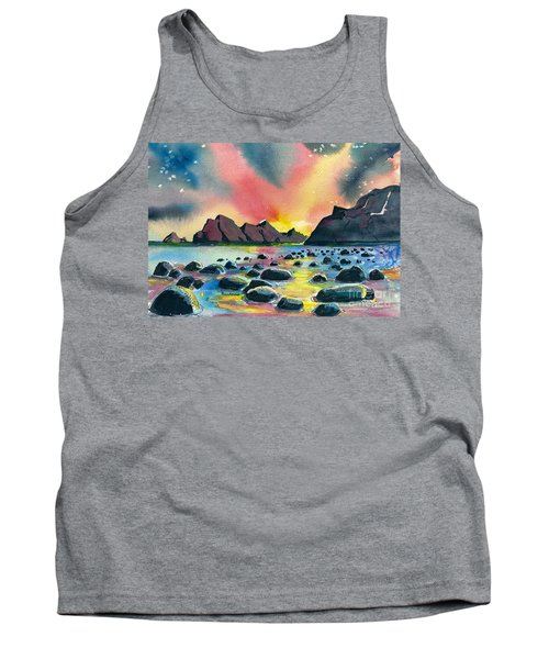 Sunrise And Water Tank Top by Terry Banderas