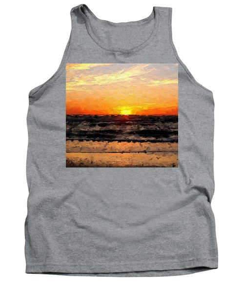 Tank Top featuring the digital art Sunrise by Anthony Fishburne