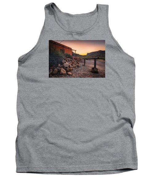 Tank Top featuring the photograph Sunrise At Contrabando by Allen Biedrzycki