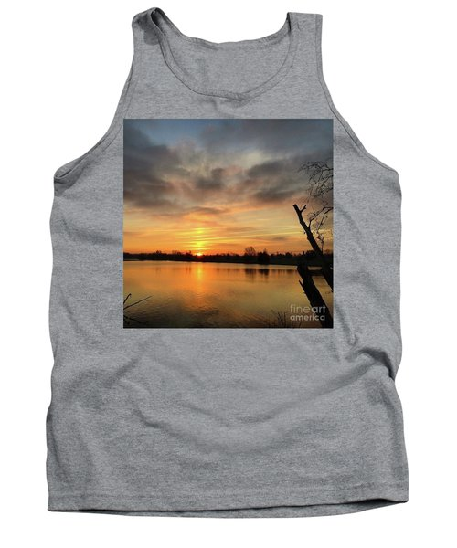 Tank Top featuring the photograph Sunrise At Jacobson Lake by Sumoflam Photography