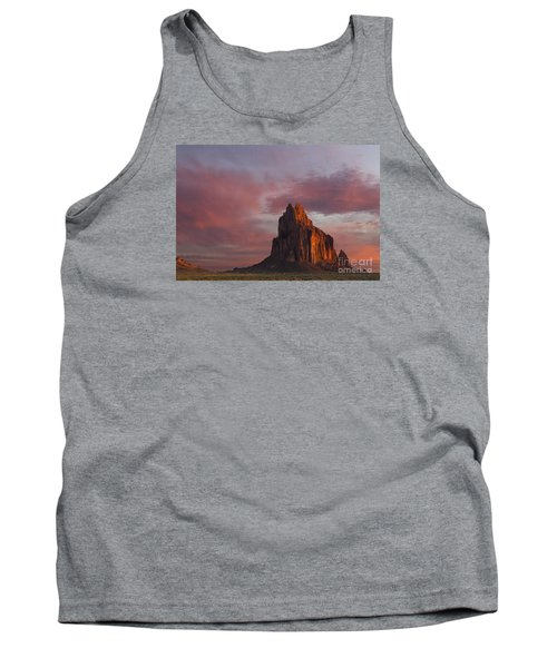 Tank Top featuring the photograph Sunrise At Shiprock New Mexico by Keith Kapple