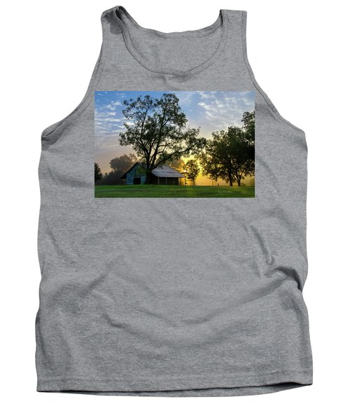 Tank Top featuring the photograph Sunrise At The Farm by George Randy Bass