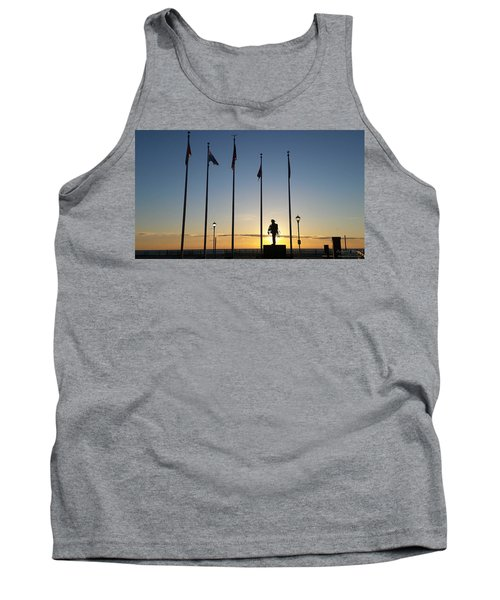 Sunrise At The Firefighters Memorial Tank Top