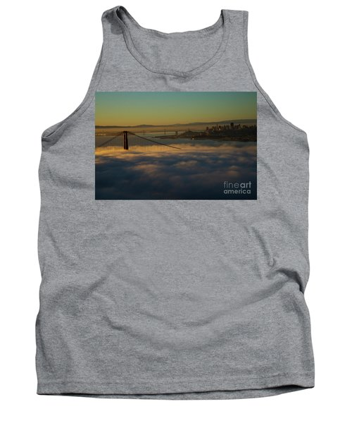 Tank Top featuring the photograph Sunrise At The Golden Gate by David Bearden