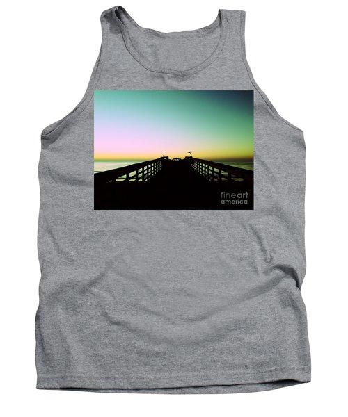 Sunrise At The Myrtle Beach State Park Pier In South Carolina Us Tank Top by Vizual Studio