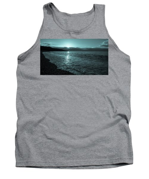 Sunrise In Stonehaven B-w Tank Top