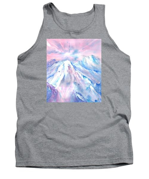 Swiss Mountains With Sunrise Tank Top