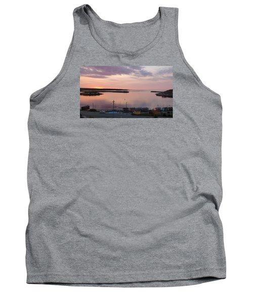 Tank Top featuring the photograph Sunrise Port Aux Basque, Newfoundland  by Joel Deutsch