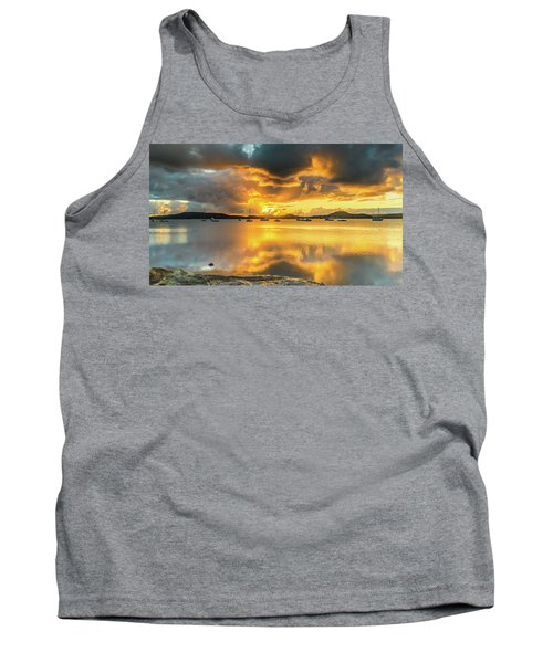 Sunrise Waterscape With Reflections Tank Top