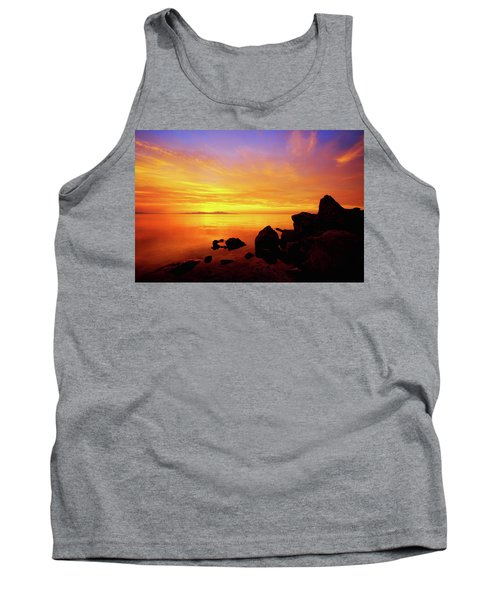 Sunset And Fire Tank Top