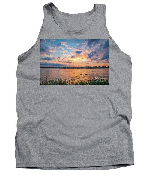 Sunset At Morse Lake Tank Top