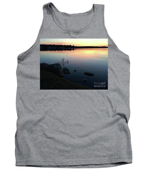 Sunset At Pentwater Lake Tank Top