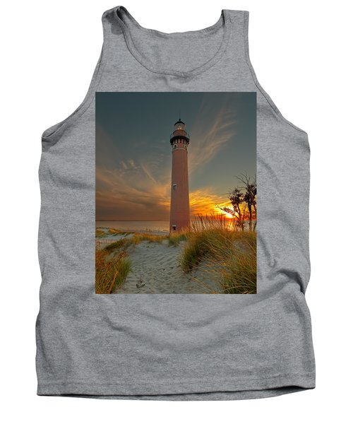 Sunset At Petite Pointe Au Sable Tank Top