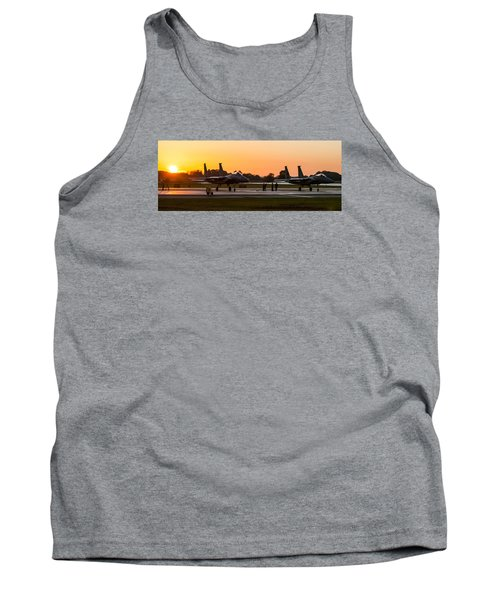 Sunset At Raf Lakenheath Tank Top by Tim Beach