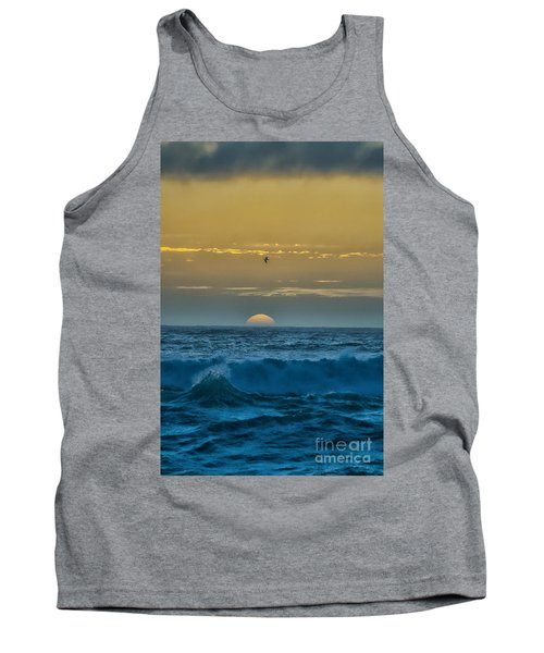 Sunset At Sea Tank Top