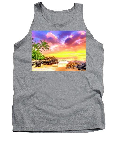 Sunset At Secret Beach Maui Tank Top