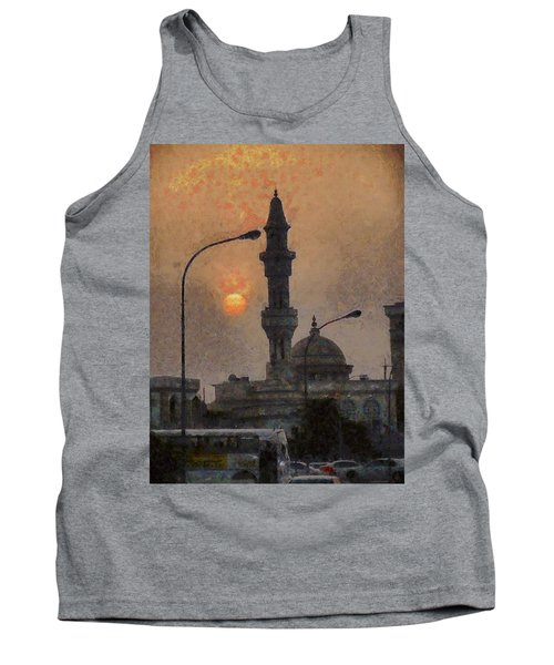 Sunset At Seeb Tank Top