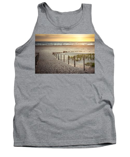 Tank Top featuring the photograph Sunset At The Beach by Hannes Cmarits