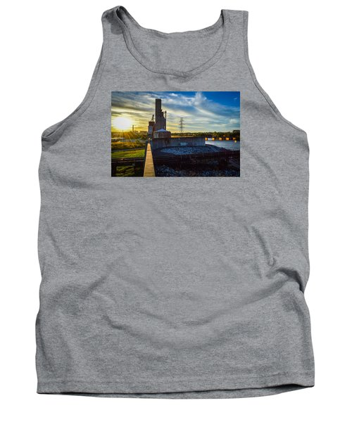 Sunset At The Flood Wall Tank Top