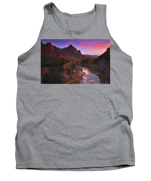 Sunset At The Watchman During Autumn At Zion National Park Tank Top