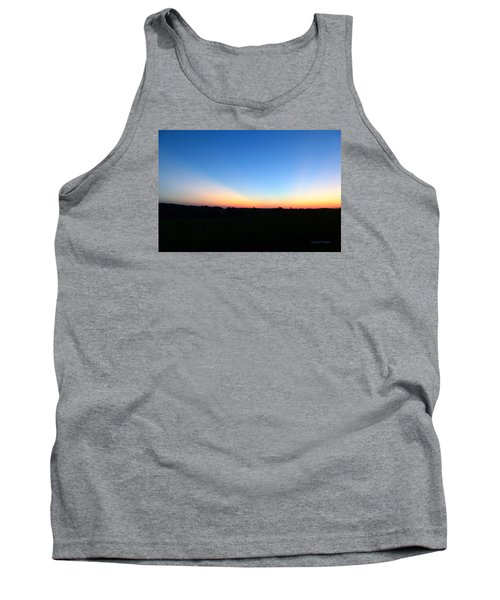 Tank Top featuring the digital art Sunset Blue by Jana Russon