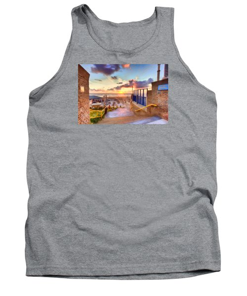 Sunset By The Sea Tank Top by Nadia Sanowar