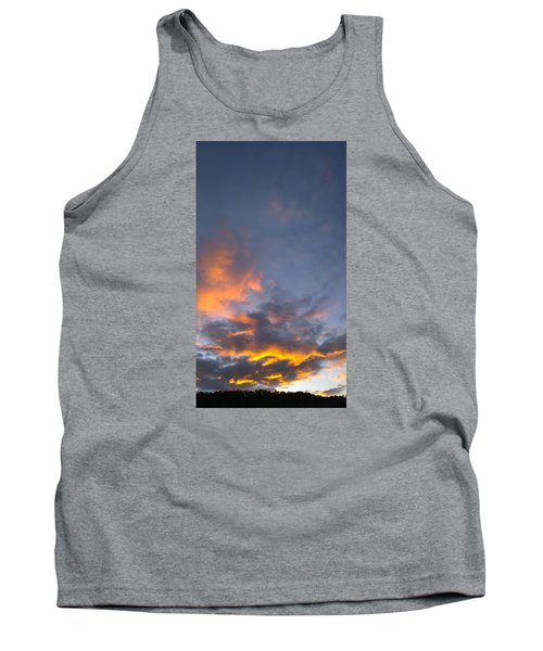 Tank Top featuring the photograph Sunset Cloud Scape Over Bryson City Nc by Kelly Hazel