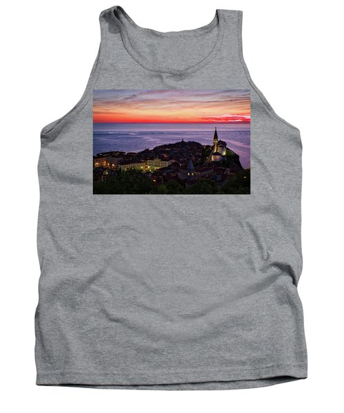 Tank Top featuring the photograph Sunset From The Walls #3 - Piran Slovenia by Stuart Litoff