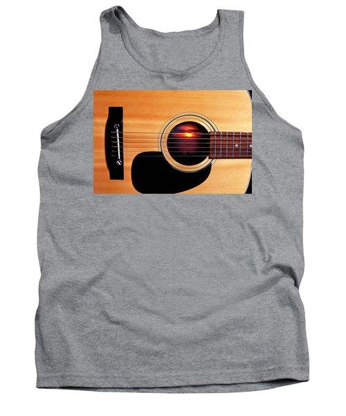 Sunset In Guitar Tank Top