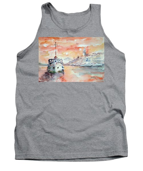 Sunset In Istanbul... Tank Top