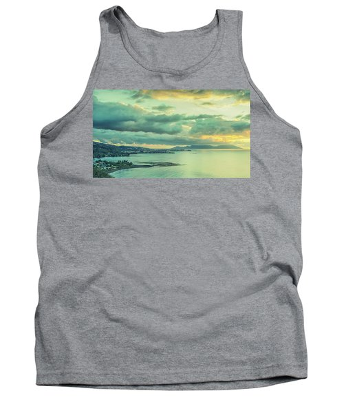 Tank Top featuring the photograph Sunset In Tahiti by Gary Slawsky