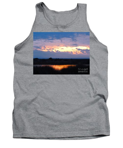 Sunset In The River Sea Beyond Tank Top