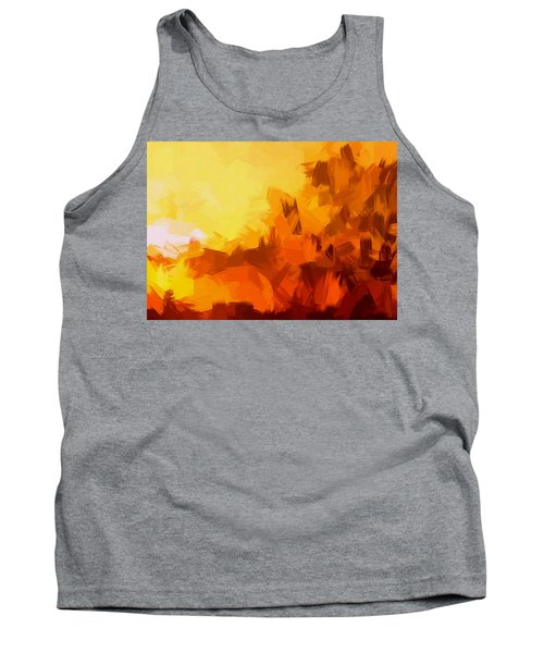 Sunset In Valhalla Tank Top by Paulo Guimaraes