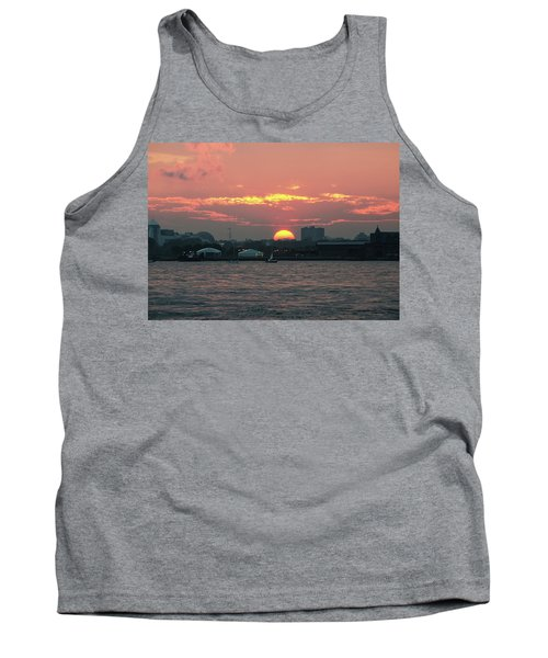 Sunset Nyc Harbor Tank Top