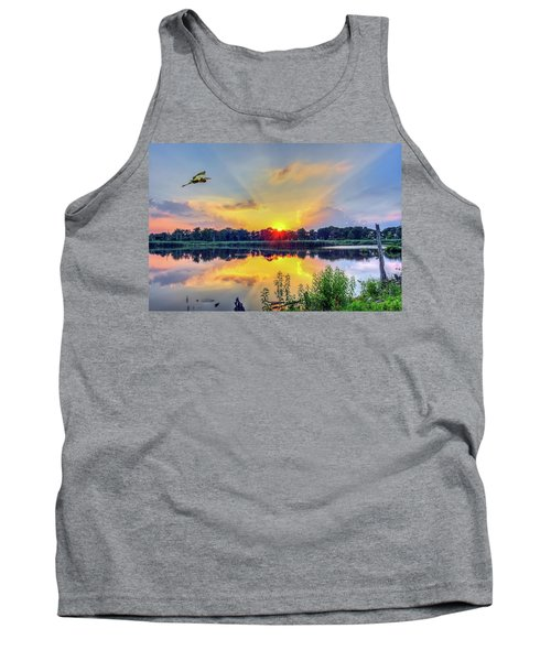 Sunset On A Chesapeake Bay Pond Tank Top