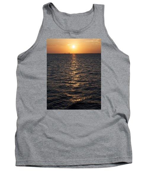 Sunset On Bay Tank Top