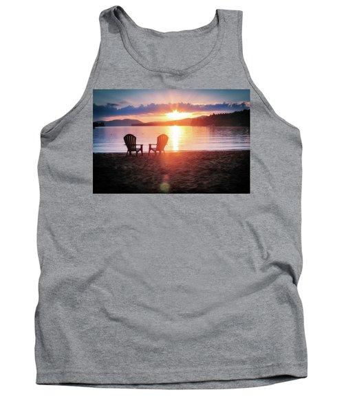 Sunset On Fourth Lake Tank Top