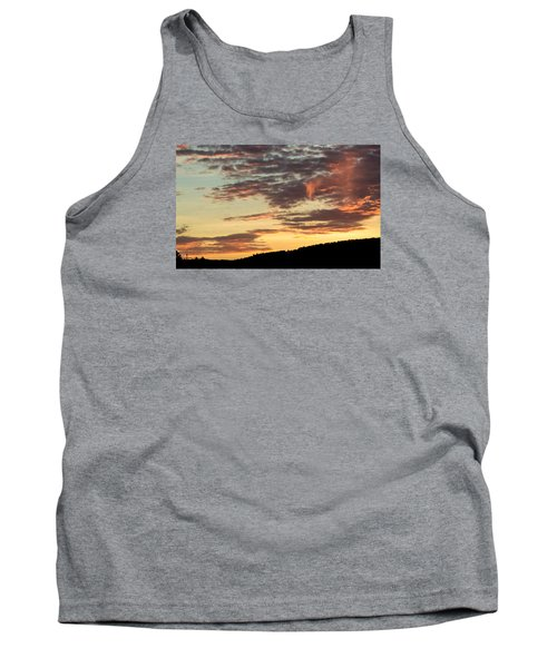 Sunset On Hunton Lane #6 In The Company Of Angels Tank Top by Carlee Ojeda