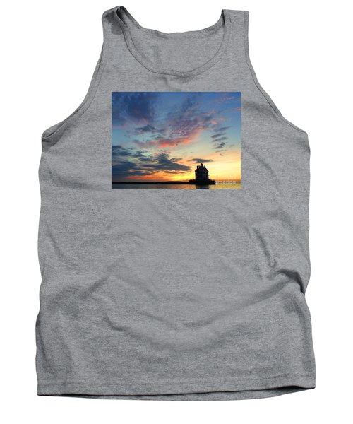 Sunset On Lighthouse Tank Top