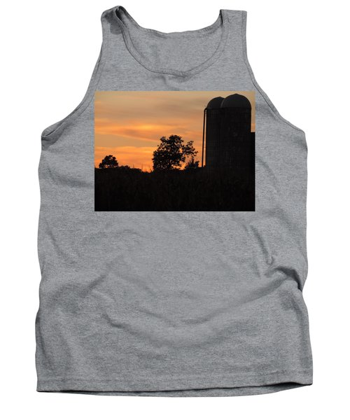 Sunset On The Farm Tank Top by Teresa Schomig