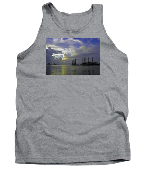 Sunset On The Harbor Tank Top