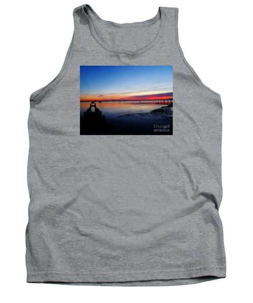 Sunset On The Shore Of Southend Tank Top