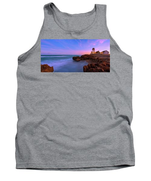 Sunset Over House Of Refuge Beach On Hutchinson Island Florida Tank Top