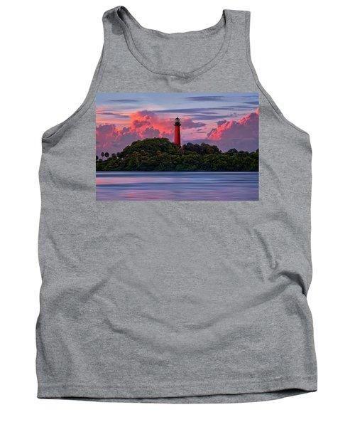Sunset Over Jupiter Lighthouse, Florida Tank Top