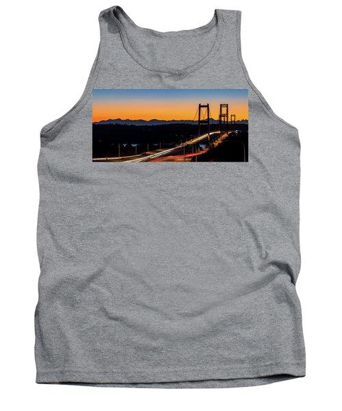 Sunset Over Narrrows Bridge Panorama Tank Top